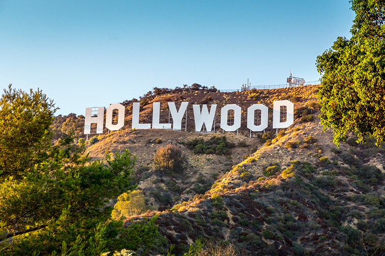 hollywood sign in los angeles, CA; Courtesy logoboom/Shutterstock