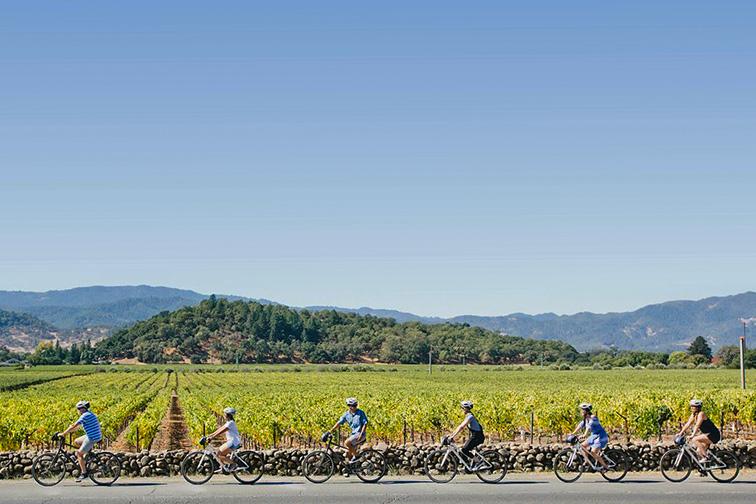 napa valley bike tour; Courtesy YountvilleCA