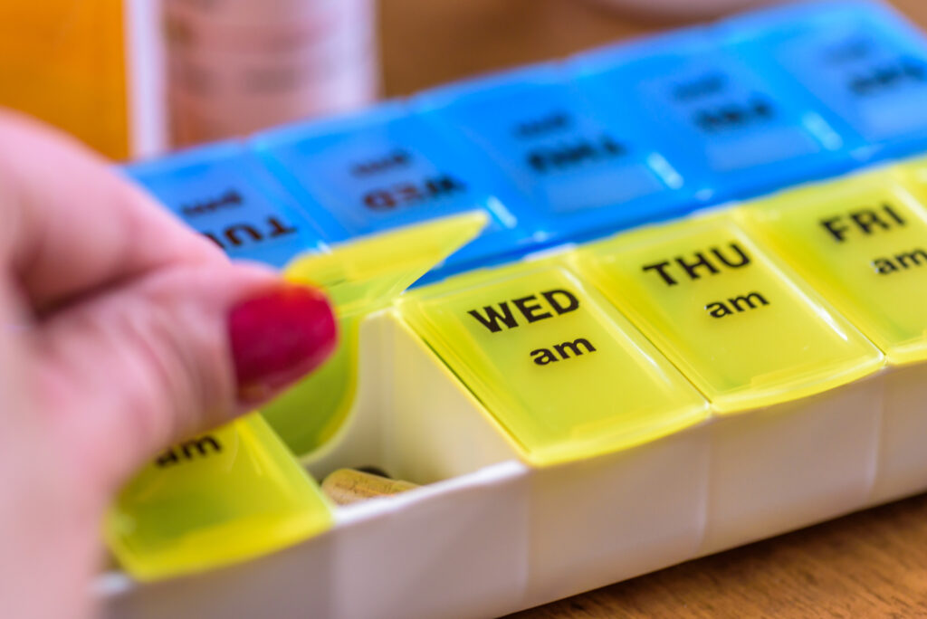 day of the week pill organizer