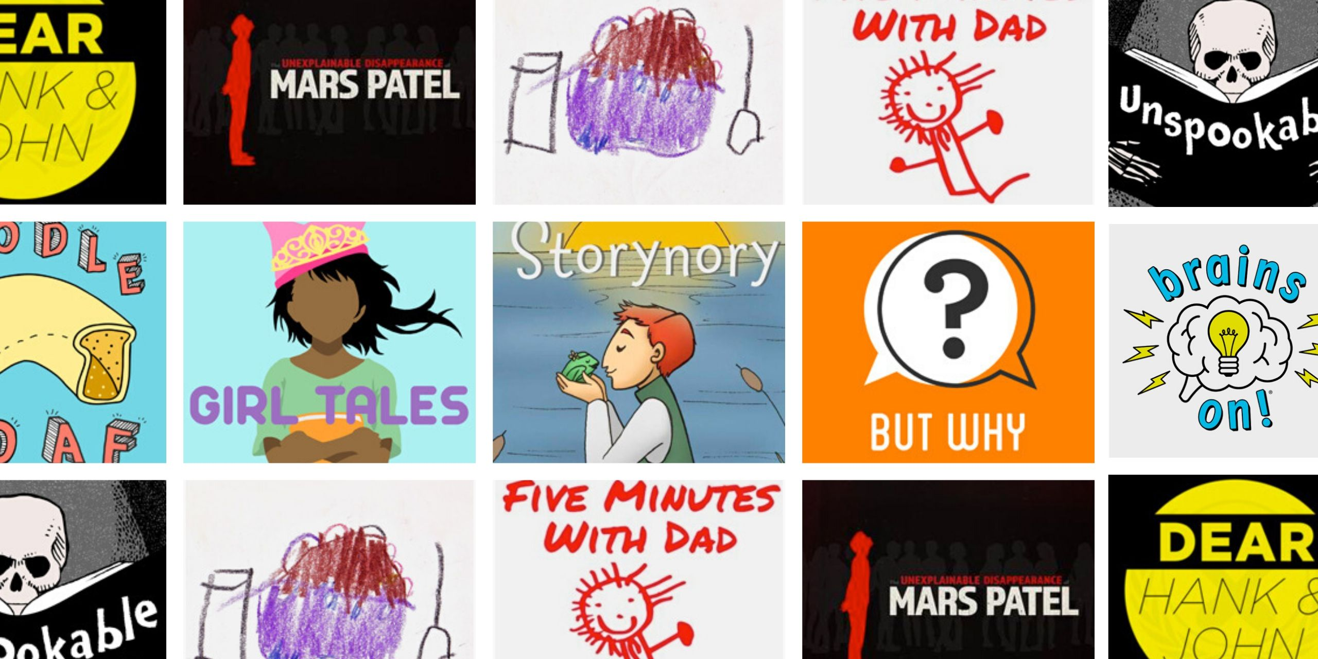 best podcasts for kids covers