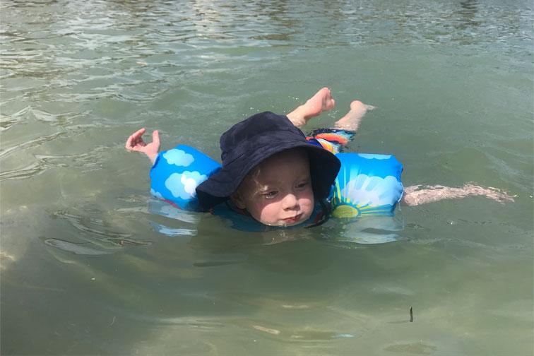 Body Glove Paddle Pals Swim Vest; Courtesy of Courtney Elko