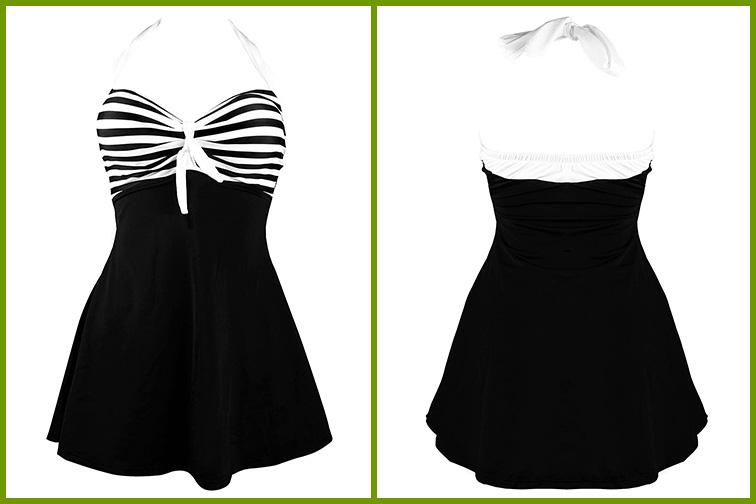 COCOSHIP Vintage Sailor Pin Up Swimsuit; Courtesy Amazon