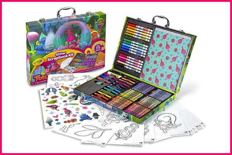 Crayola Trolls World Tour Scrapbooking Kit ; Courtesy Amazon