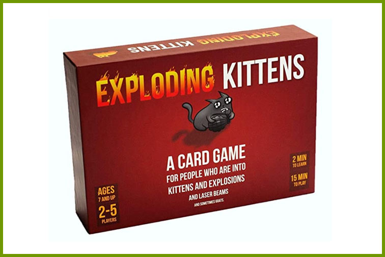 Exploding Kittens Family Card Game; Courtesy of Amazon