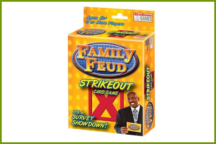 Family Feud Strikeout Family Card Game; Courtesy of Walmart