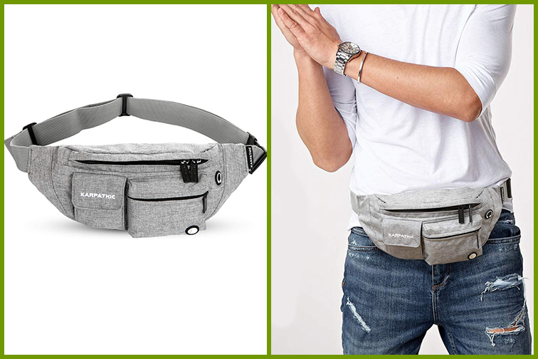Karpathic RFID Fanny Pack for Women and Men; Courtesy Amazon