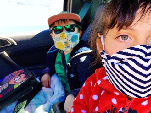 Kids wearing face masks; Courtesy of Twenty20