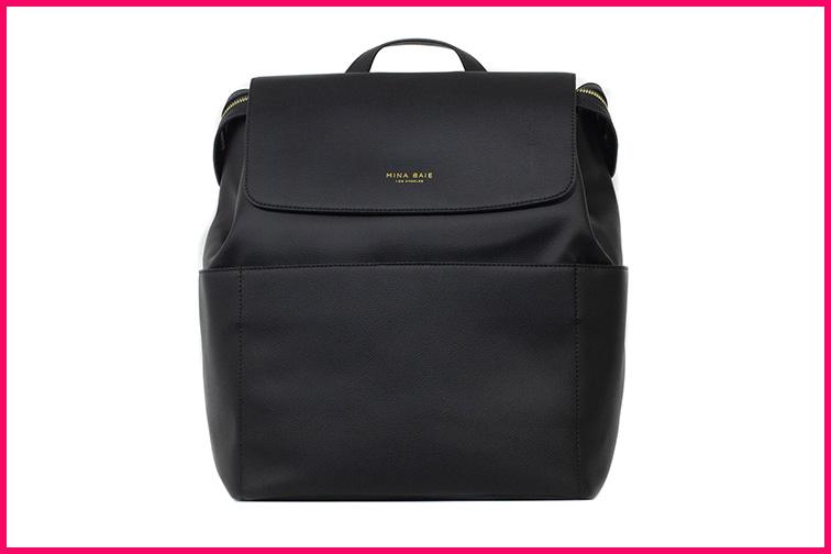 Mina Baie Vegan Kinney Backpack – Convertible Cross-body; Courtesy Mina Baie