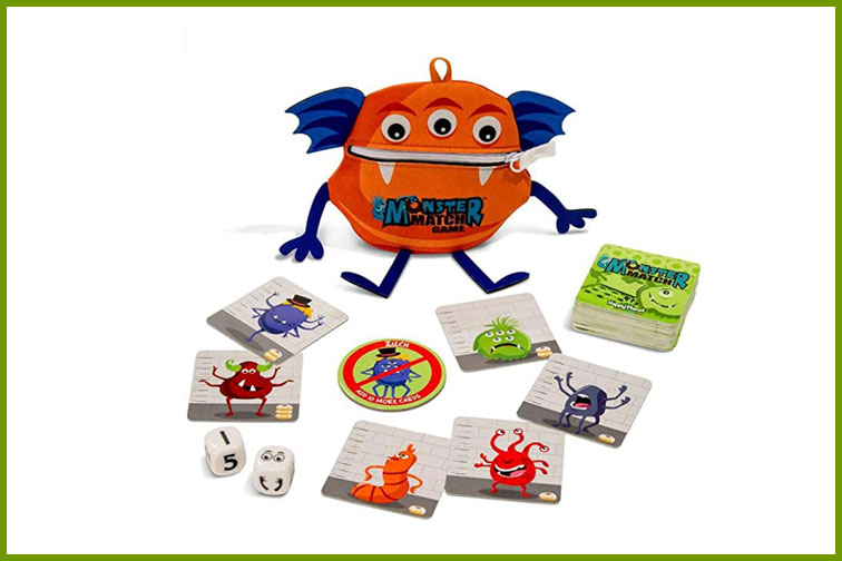 Monster Match Dice and Family Card Game; Courtesy of Amazon