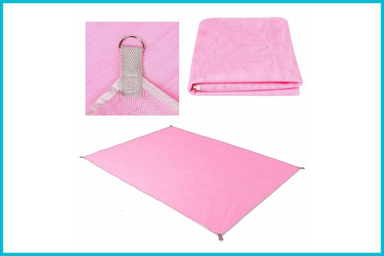 Pink Beach Blanket; Courtesy of Walmart