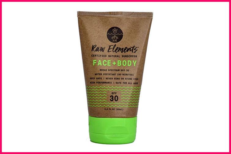 Raw Elements Sunscreen; Courtesy of Amazon