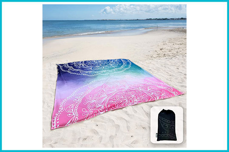 Sunlit beach blanket; Courtesy of Amazon