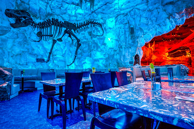 T-Rex Cafe – Lake Buena Vista, Florida; Courtesy T-Rex Cafe