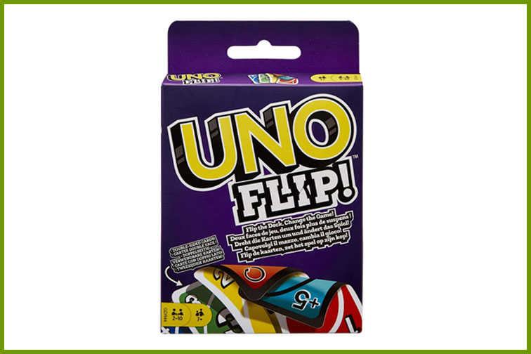 Uno Flip Family Card Game; Courtesy of Amazon