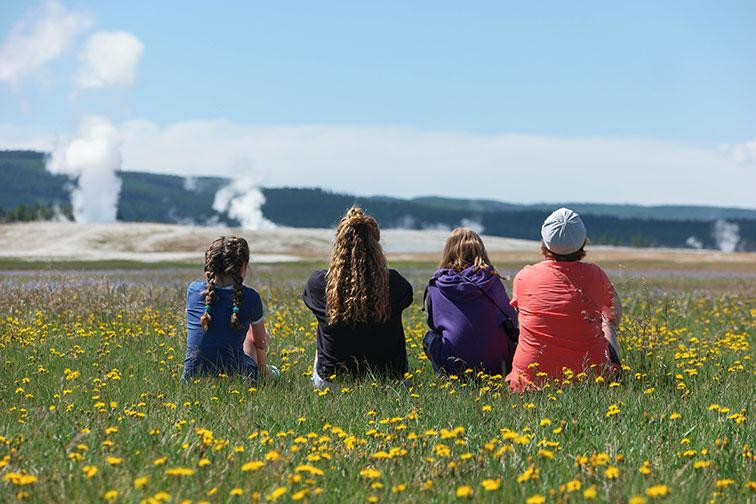 Family at Yellowstone National Park; Courtesy of Jeff Bogle