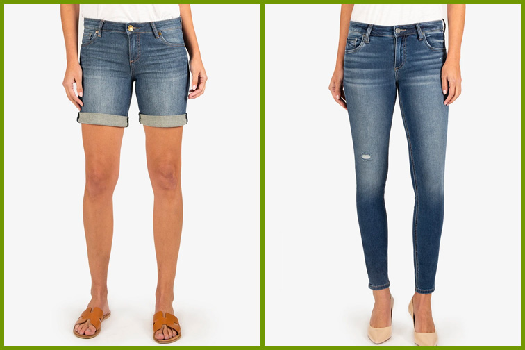 Jeans and denim shorts from Kut From the Kloth