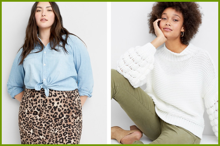 Two models wearing outfits available from Stitch Fix