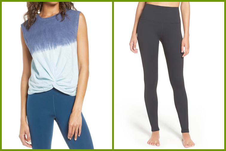 Jeans and a top from Zella brand at Nordstrom