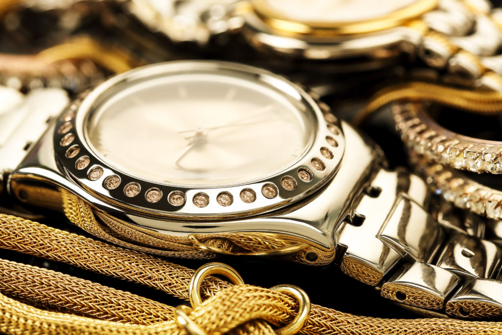 Watch and gold jewelry