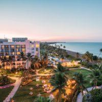 Aerial view of the Wyndham Grand Rio Mar Puerto Rico Golf & Beach Resort