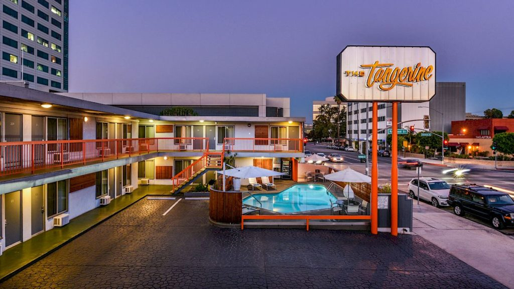 The Tangerine boutique hotel in California