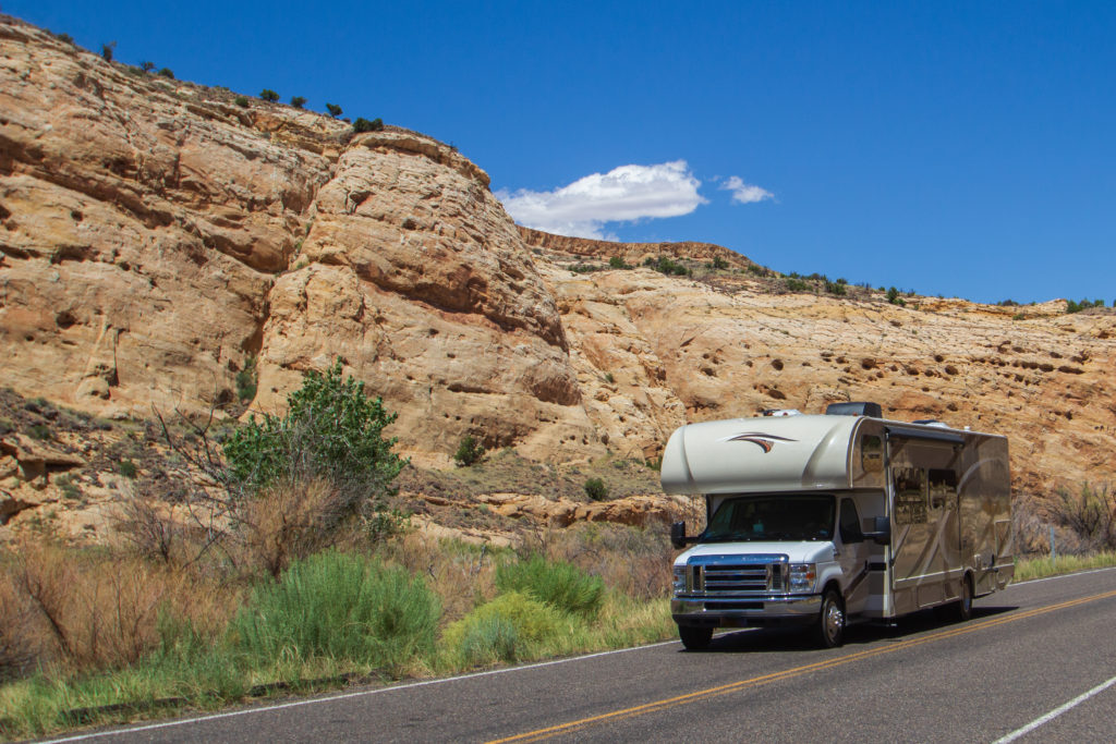 Class C RV in Capitol Reef National Park