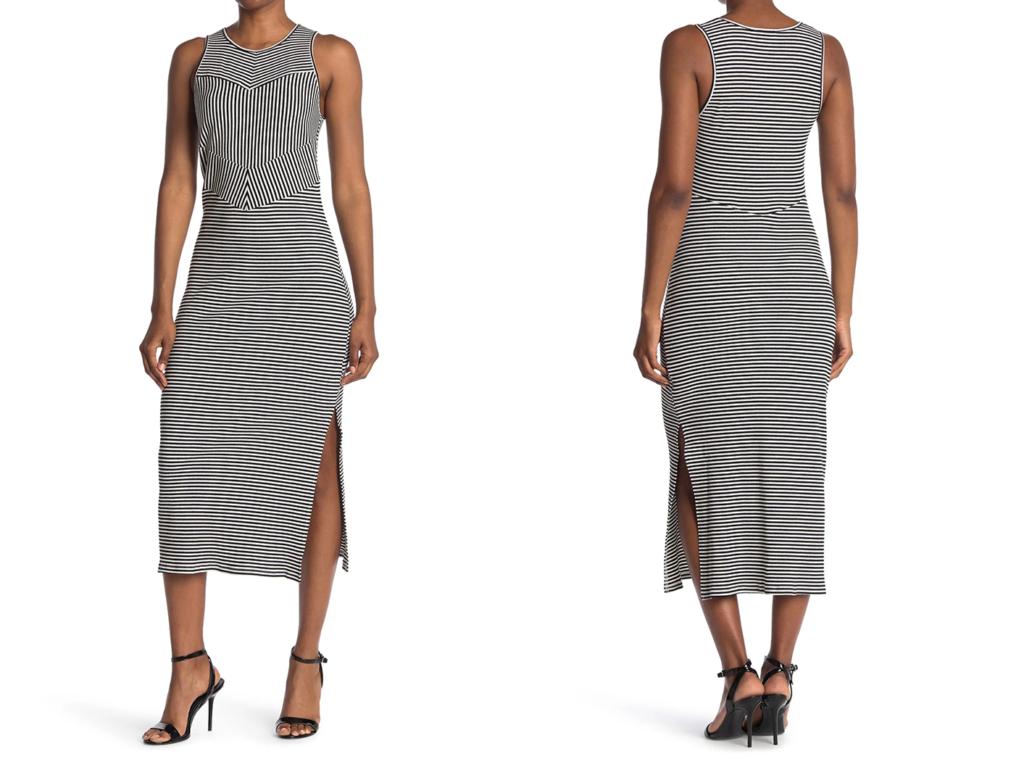 NSR Midi Striped Knit Dress