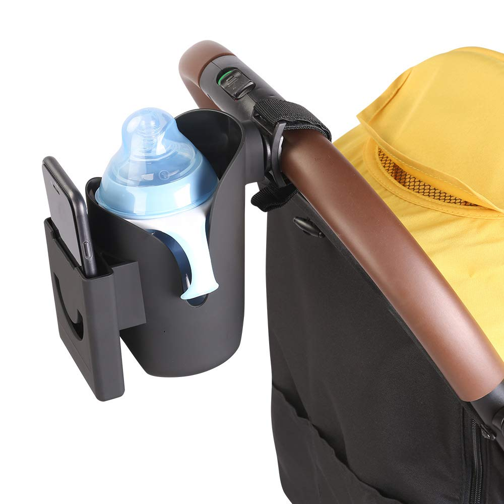 Babyfond 2 in 1 Universal Stroller Cup Holder attached to a stroller