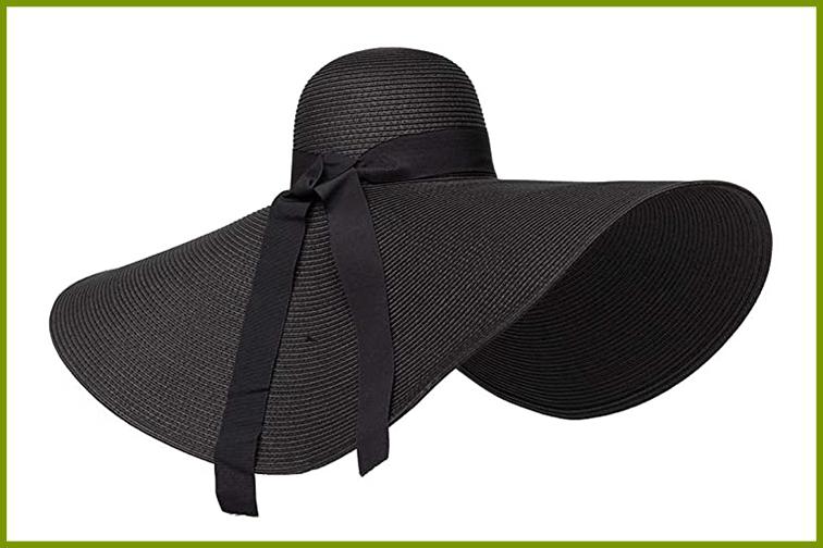 Large, black sun hat