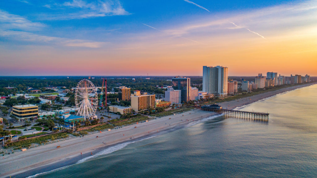 Aerial view of Myrtle Beach South Carolina