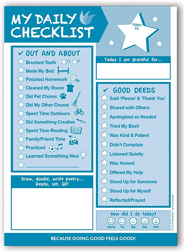 My Daily Checklist by InnerGuide Planner for Kids