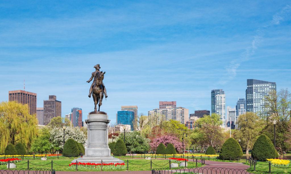 Boston Public Garden in Boston, Massachusetts