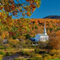 Stowe, Vermont in autumn