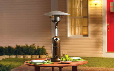 Living Accents Tabletop Propane Steel Patio Heater