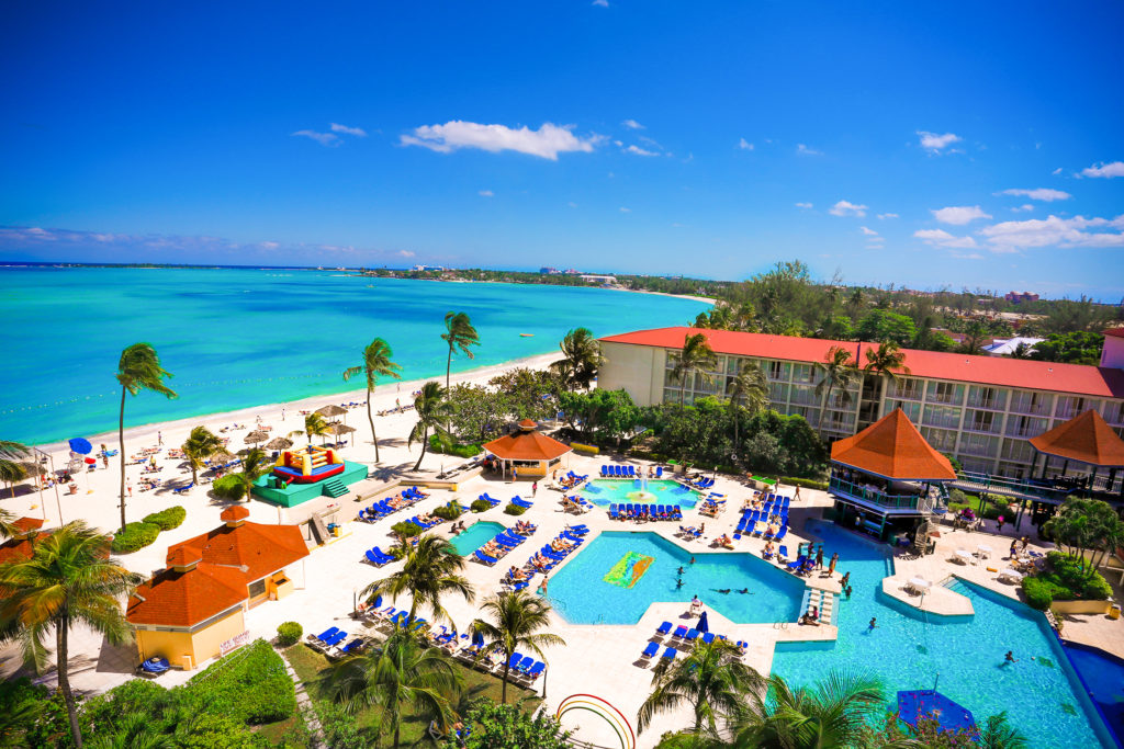 Aerial view of the Breezes Resort & Spa