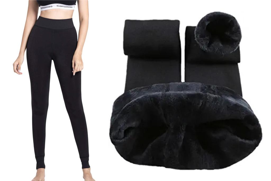Romastory Velvet Elastic Fleece Lined Leggings