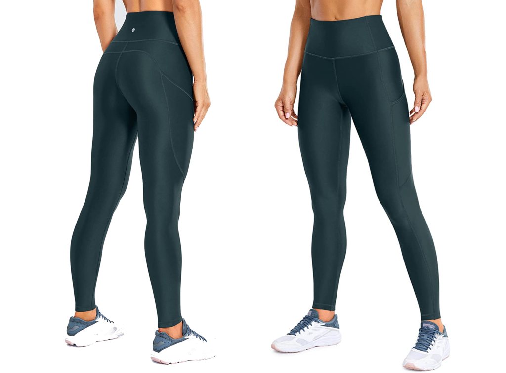 CRZ Yoga Women's Thermal Fleece Lined Leggings With Pockets