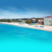 Seaside view of the Breezes Resort & Spa in the Bahamas