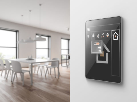 iPad control panel in smart home