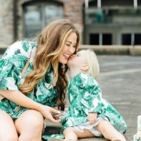 Mother and child dressed in Poshmark clothing